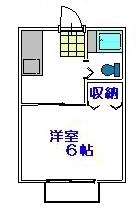1K洋室タイプ(間取)